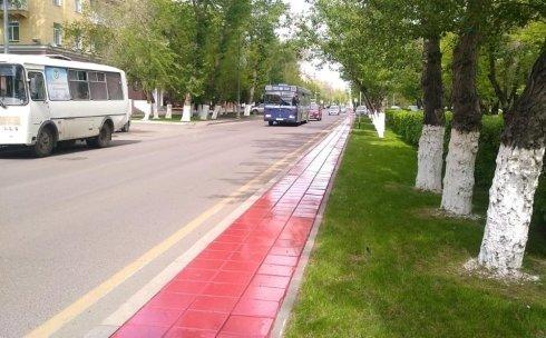 Красный цвет тротуаров в Караганде , фото-1, Фото: Еkaraganda.kz