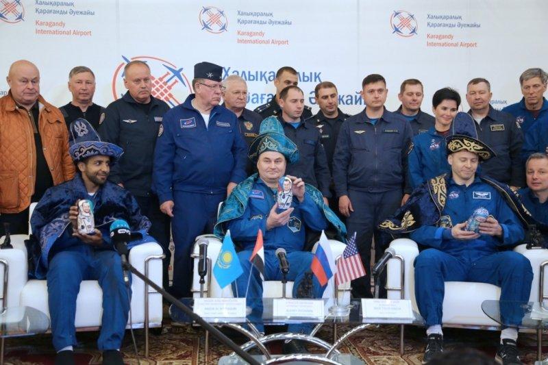 В Караганде встретили экипаж «Союза МС-12» , фото-2
