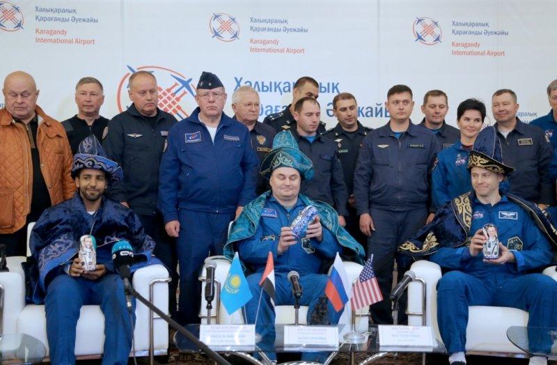 В Караганде встретили экипаж «Союза МС-12» , фото-3