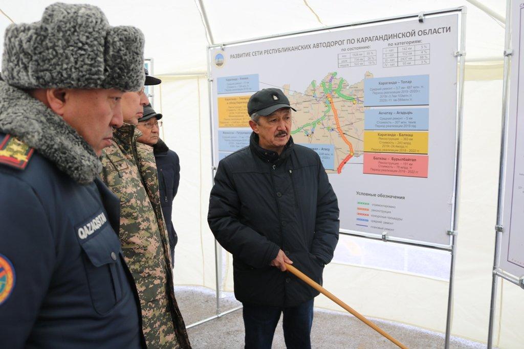 В Карагандинской области для ликвидации ЧС зимнего периода были приведены в готовность свыше 3000 человек и 1200 техники, фото-15