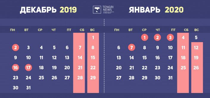 Как отдохнут казахстанцы в декабре, на Новый год и в январе 2020 года, фото-1
