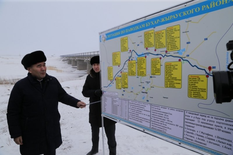Новый гидропост в месте стока нескольких рек показали Женису Касымбеку, фото-2, @karaganda-region.gov.kz