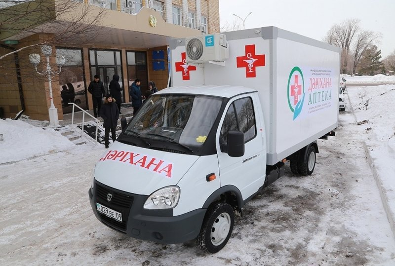 Передвижная аптека колесит по сёлам Актогайского района, фото-1, @karaganda-region.gov.kz