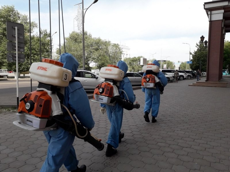В Караганде возобновили дезинфекцию общественных мест от COVID-19, фото-1