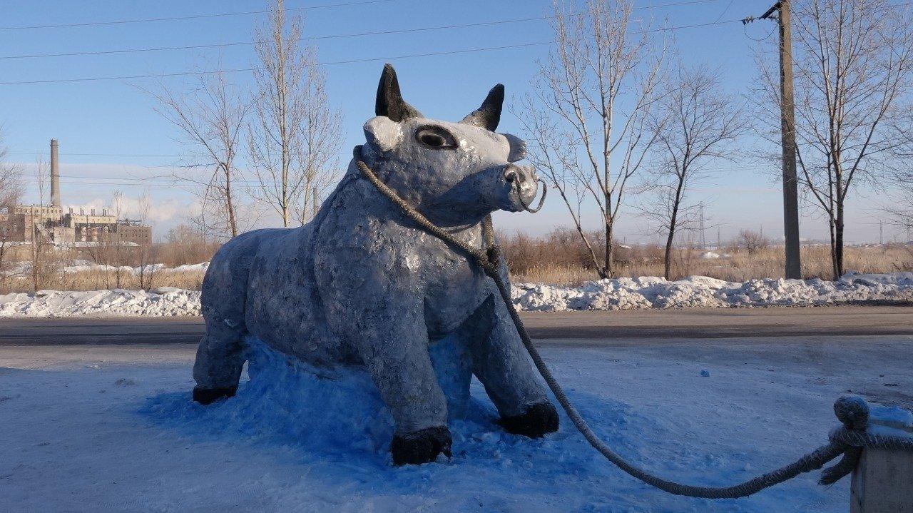 Победитель в номинации Снежная фигура, фото пресс-службы акимата Карагандинской области