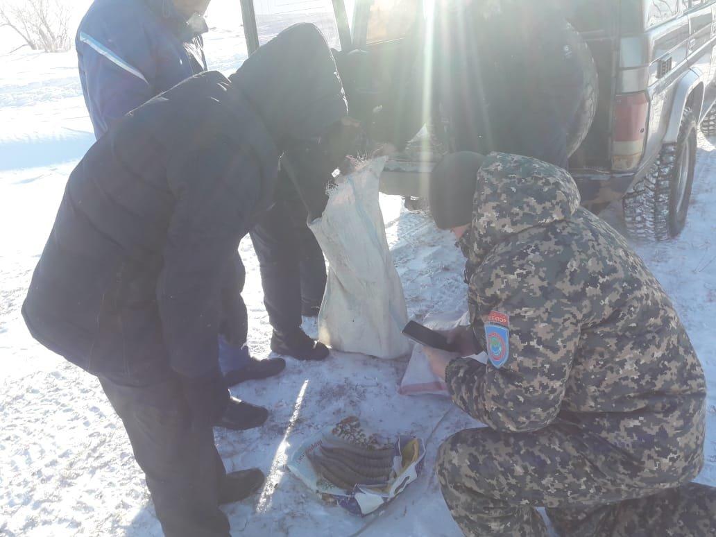 во время рейда обнаружили браконьеров, фото Управления природных ресурсов и регулирования природопользования Карагандинской области
