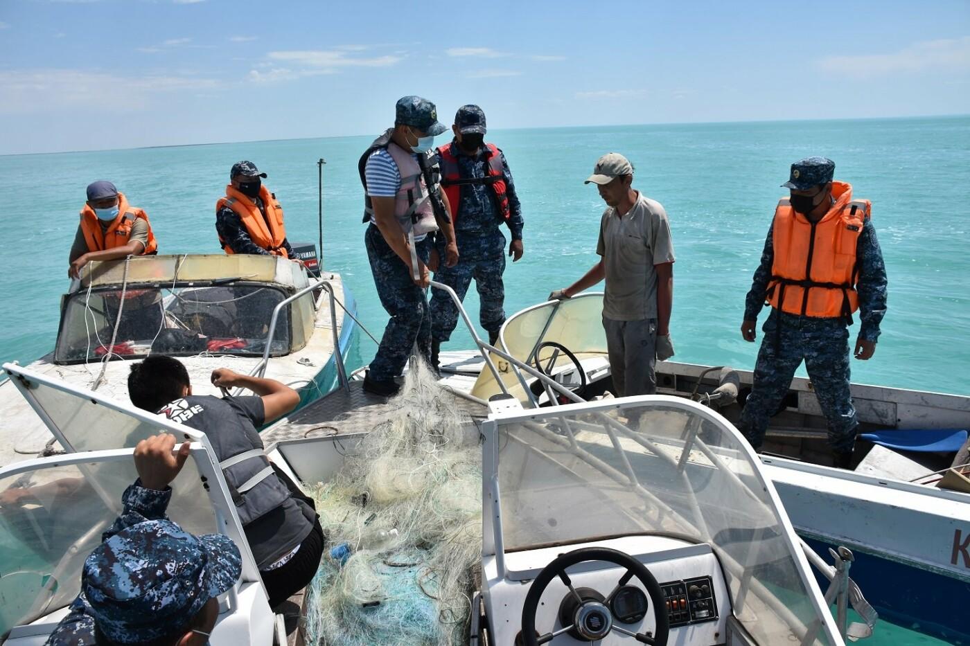 27 моторных лодок были изъяты у браконьеров Балхаша, фото пресс-службы ДП Карагандинской области