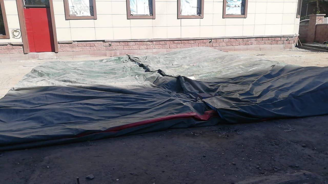 батут демонтировали, фото пресс-службы ДП Карагандинской области
